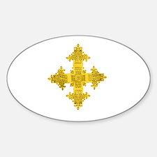 Ethiopia Cross Oval Decal
