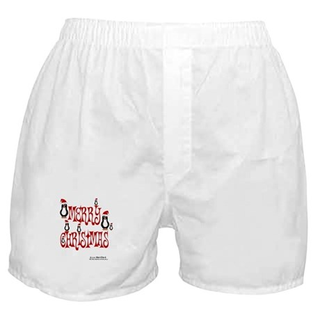 Christmas Penguins Boxer Shorts