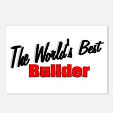 """""""The World's Best Builder"""" Postcards (Package of 8"""
