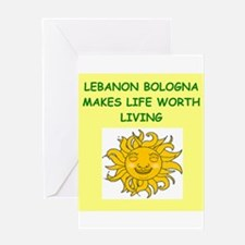 lebanon bologna Greeting Card
