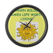 lebanon bologna Large Wall Clock