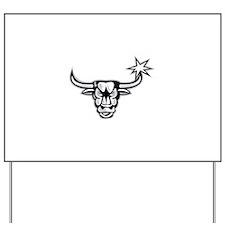 Texas Longhorn Bull Retro Yard Sign