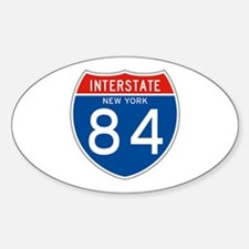 Interstate 84 - NY Oval Decal