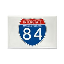 Interstate 84 - MA Rectangle Magnet