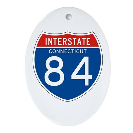 Interstate 84 - CT Oval Ornament