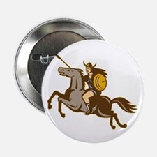 "Valkyrie Riding Horse Retro 2.25"" Button (10 pack)"