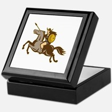 Valkyrie Riding Horse Retro Keepsake Box