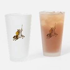 Valkyrie Riding Horse Retro Drinking Glass