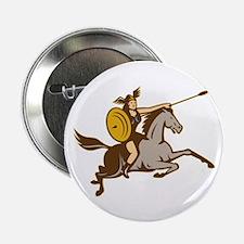 """Valkyrie Riding Horse Retro 2.25"""" Button"""