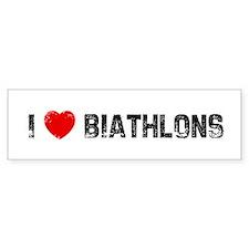 I * Biathlons Bumper Bumper Sticker