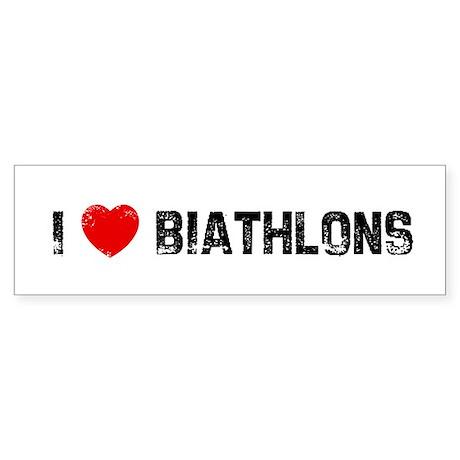 I * Biathlons Bumper Sticker
