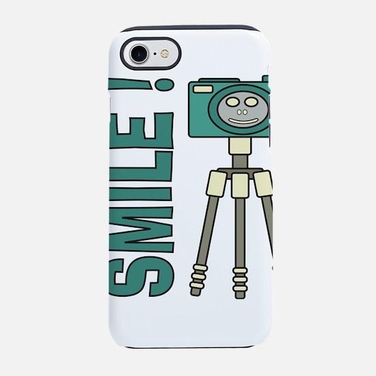 Funny photographer Smile desig iPhone 7 Tough Case