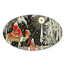 3 Wise Men Oval Decal