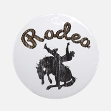 Retro Rodeo Ornament (Round)