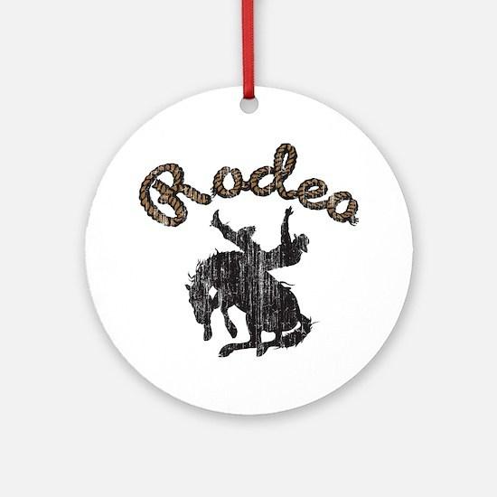Retro Rodeo Ornament (Round)