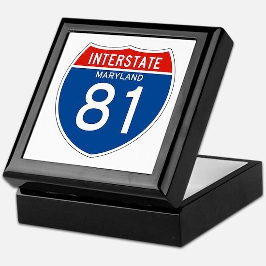 Interstate 81 - MD Keepsake Box