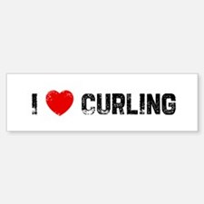 I * Curling Bumper Bumper Bumper Sticker