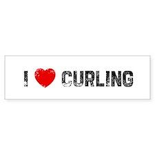 I * Curling Bumper Bumper Sticker