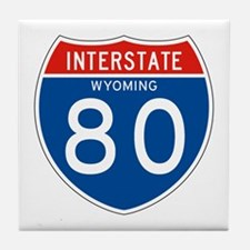 Interstate 80 - WY Tile Coaster