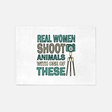 Real women Photographer 5'x7'Area Rug
