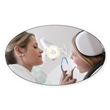 Dentist with patient in surgery Decal