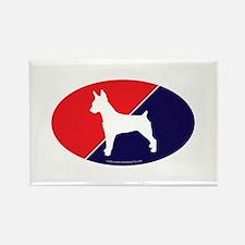US Flag Rat Terrier Rectangle Magnet