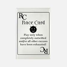 """Race Card"" Rectangle Magnet"