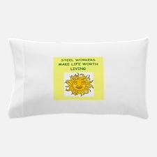 steel worker Pillow Case