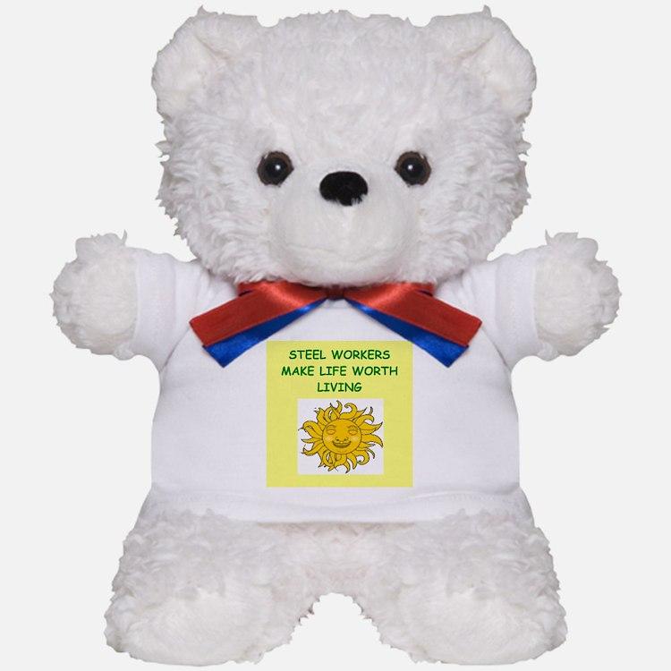 steel worker Teddy Bear
