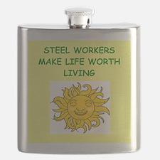 steel worker Flask