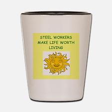 steel worker Shot Glass