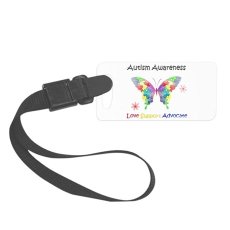 Autism Awareness Butterfly Small Luggage Tag