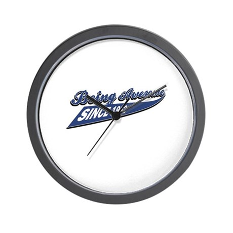 Awesome Since 1982 Wall Clock By Eatsleeptees