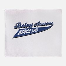 Awesome since 1983 Throw Blanket