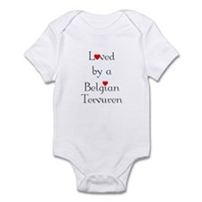 Loved by a Belgian Tervuren Infant Bodysuit