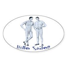 HELLO SAILOR Oval Decal