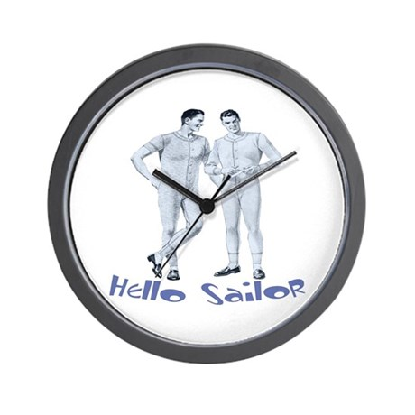 HELLO SAILOR Wall Clock