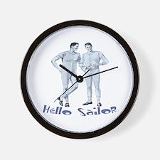HELLO SAILOR Wall Clock