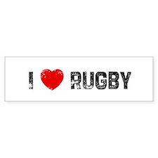 I * Rugby Bumper Car Sticker
