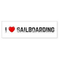 I * Sailboarding Bumper Bumper Sticker