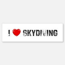 I * Skydiving Bumper Bumper Bumper Sticker