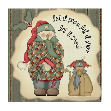 Let it snow, Let it snow Tile Coaster