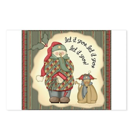 Let it snow, Let it snow Postcards (Package of 8)