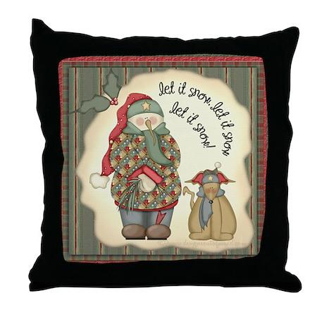 Let it snow, Let it snow Throw Pillow