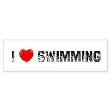 I * Swimming Bumper Bumper Sticker