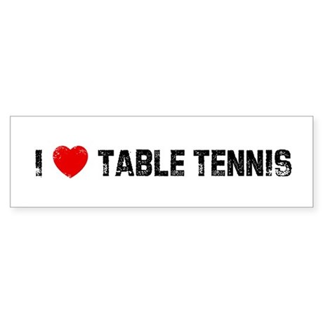 I table tennis bumper car sticker by ilovesuperstore for 10 table tennis rules