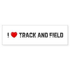 I * Track and Field Bumper Car Sticker