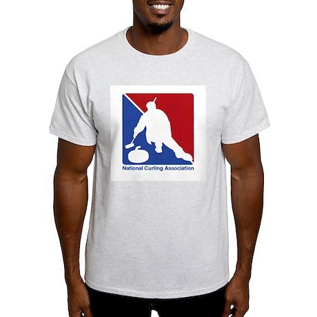 National Curling Association Ash Grey T-Shirt