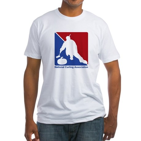 National Curling Association Fitted T-Shirt