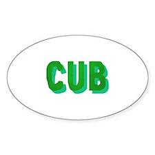 CUB GREEN FELT SHADOW Oval Decal